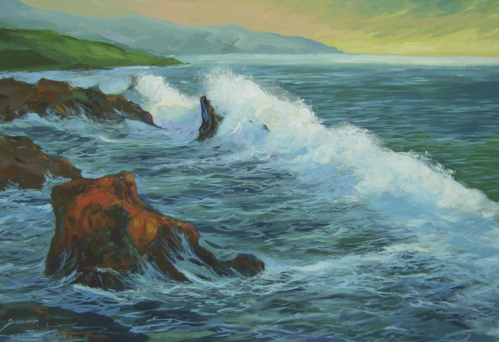 Early Morning Surf 24x36