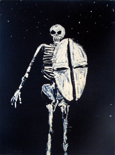 Skeleton with Shield
