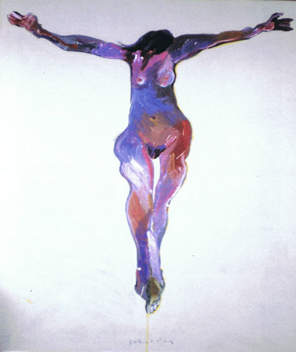 Crucified Woman II 80x64 by Fritz Scholder