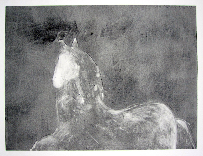 Dream Horse Series, #1 Monotype 1986 30x40