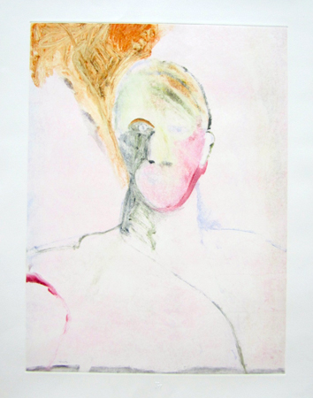 Portrait Head 1990 Monotype 30x22