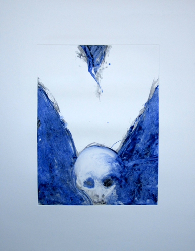 Death Angel Series, #2 Monoprint 1987 40x31