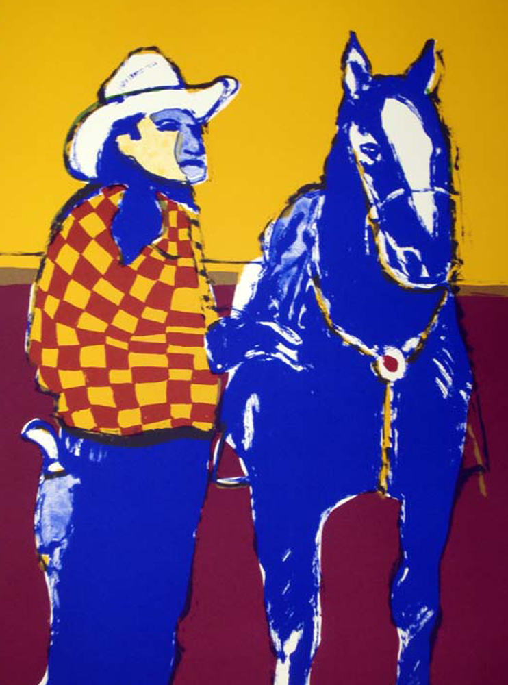 Matinee Cowboy And Horse  1976