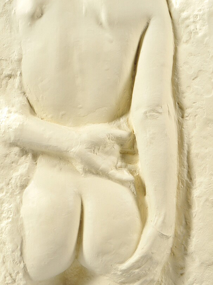 Gazing Woman Paper Cast Sculpture 1985 26 in