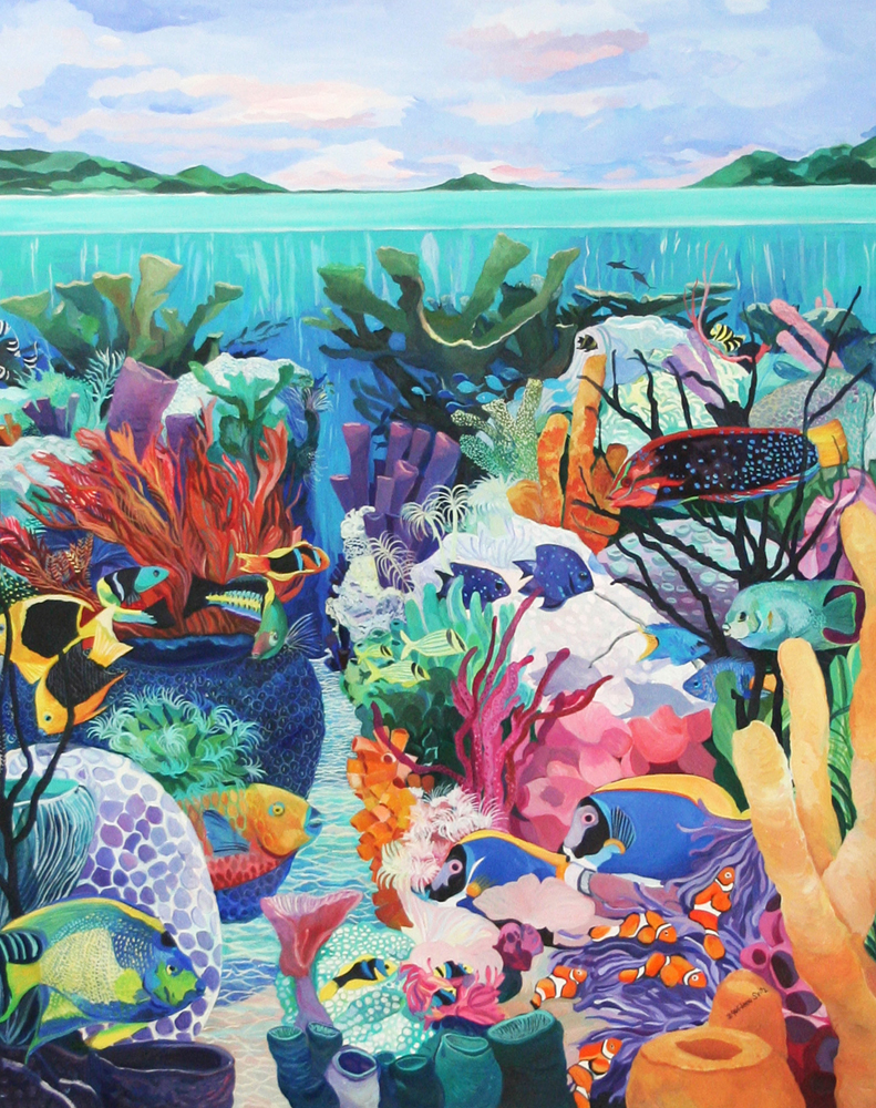 Underwater Majesty 1990 48x60