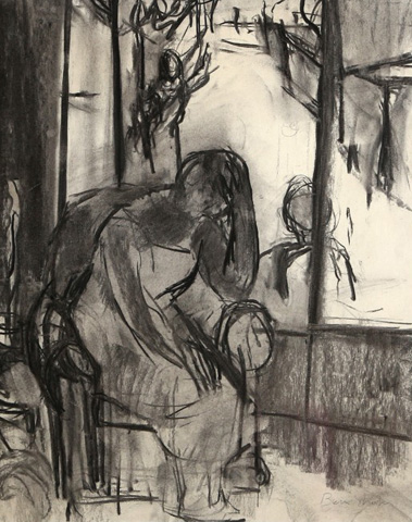 Untitled - Woman in Chair By Window 25x22 by Ben Shahn