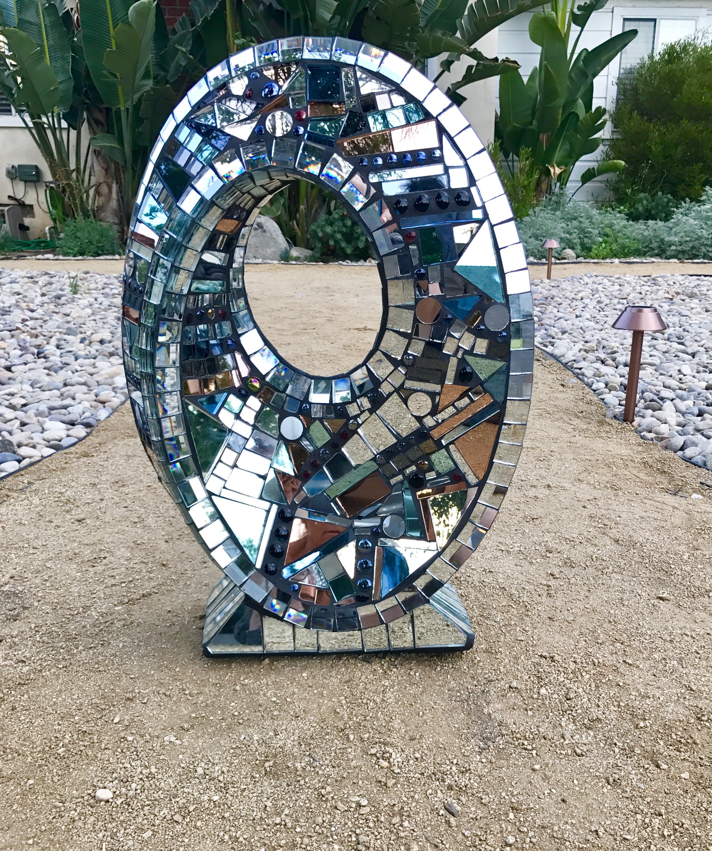 Reflections of Infinity Unique Ceramic Sculpture 25 in
