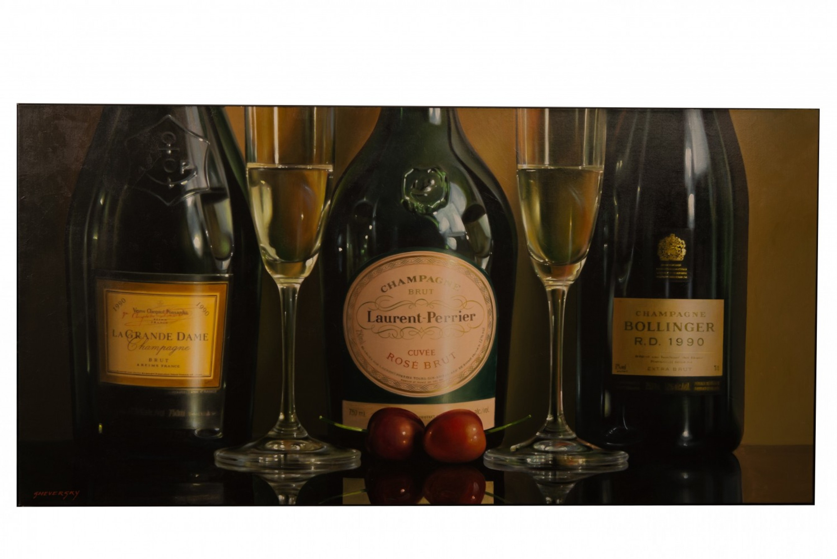 Three Champagnes 30x60