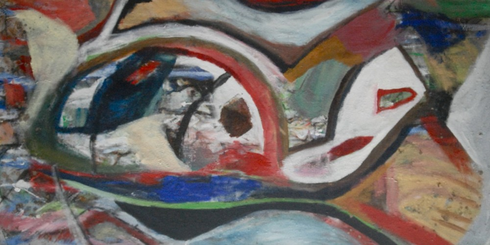 Untitled Abstract Painting 2011 39x78