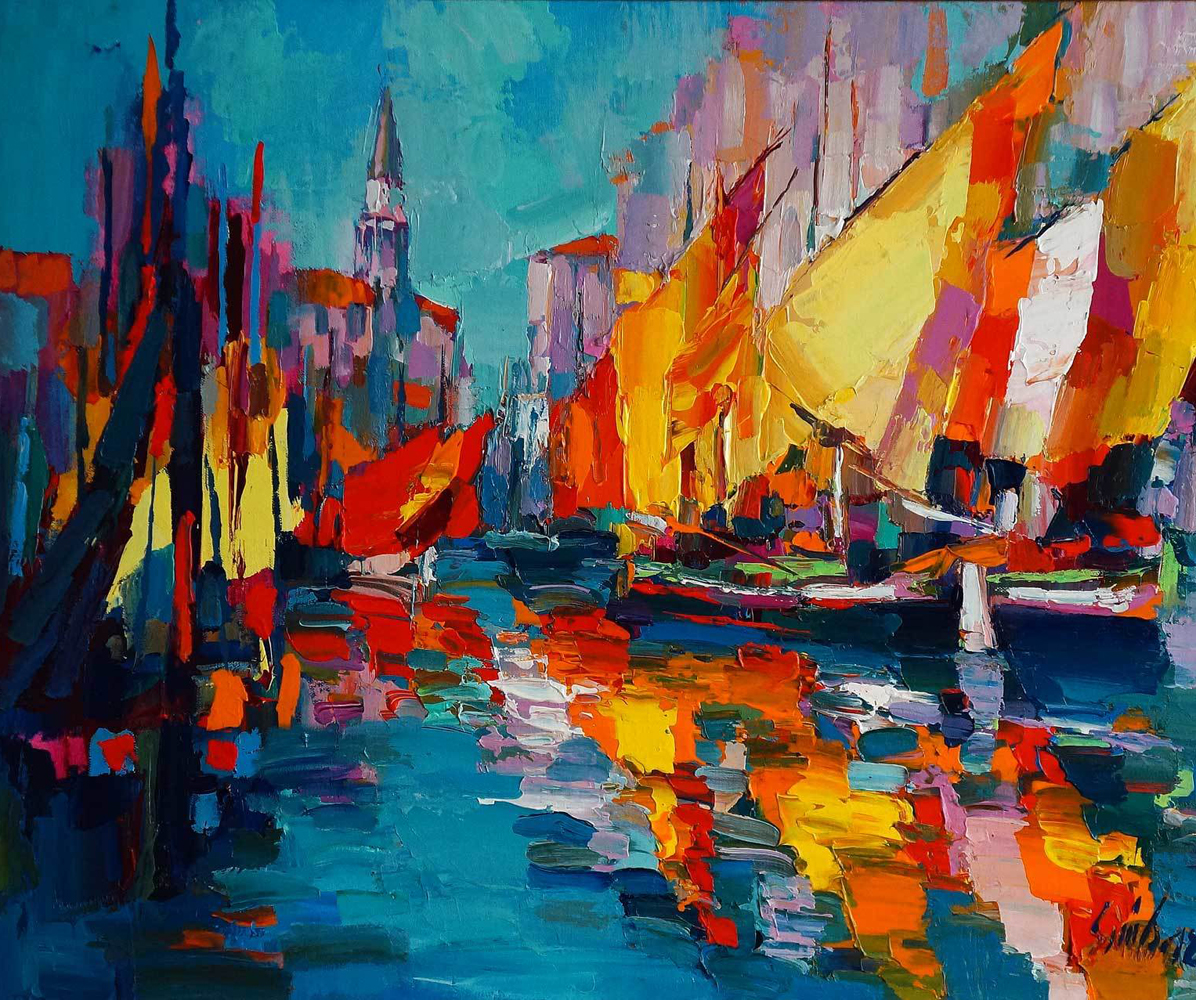 Sails in Chioggia 1986 37x45