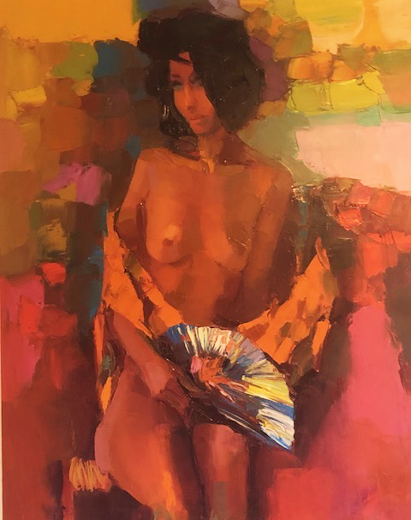 Girl With Fan 1964 43x36
