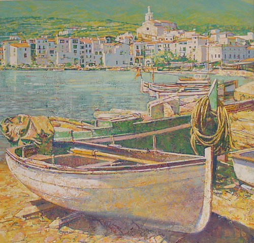 Cadaques (Home of Salvador Dali) 52x52  1990