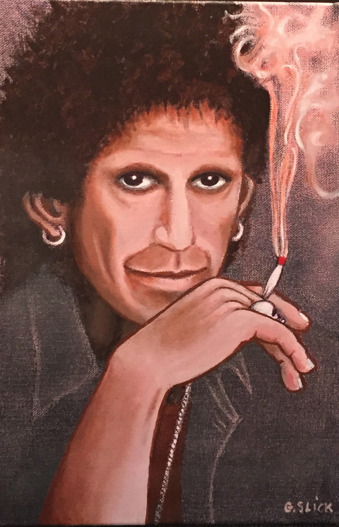 Fire, Smoke, Ice - Keith Richards Triptych 2014 18x12