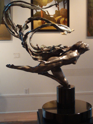 Windscarf Bronze Sculpture