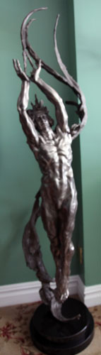 Angstrom Life Size Bronze Sculpture 2007 69 in