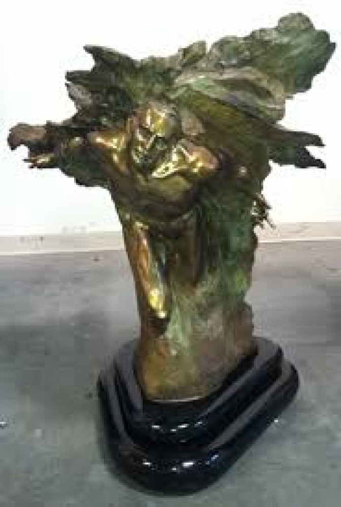 Tectonics Europe Bronze Sculpture 2003 35 in