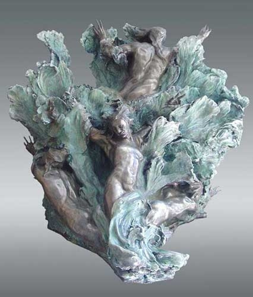 Sea Creates Bronze Sculpture 55x48