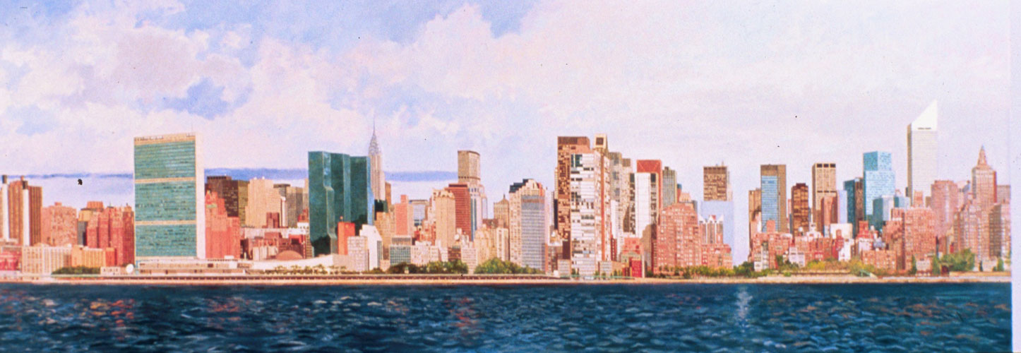 East Side Manhattan 2003 40x120 Mural