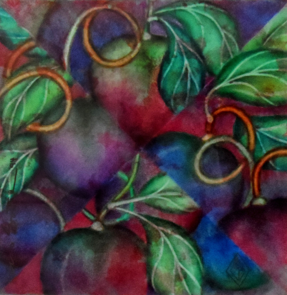 Kaleidoscope of Plums 1994 30x30
