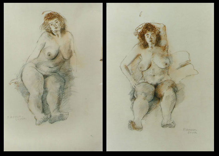 Sitting Nude 1 and 2