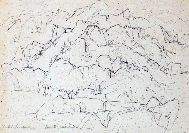 Western Landscape One Drawing