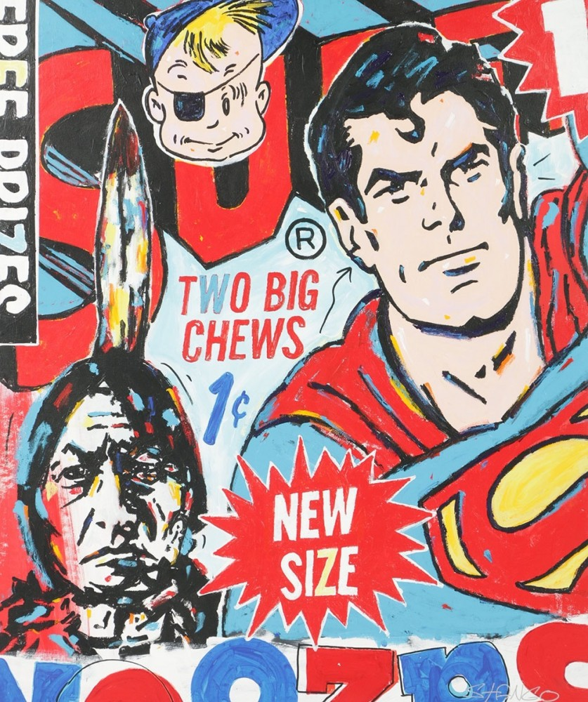 Superman, Two Big Chews 2015 60x50