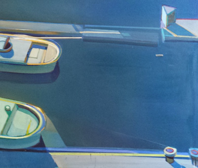 Sunshine Boats - Both Departing 1995 44x49 by Raimonds Staprans