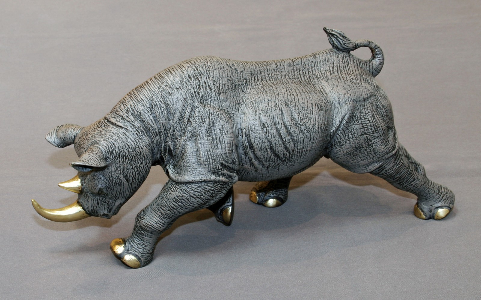 Black Rhinoceros Bronze Sculpture 2016 17 in
