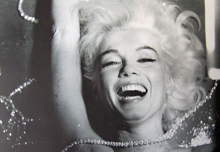 Pearls Laughing Marilyn Monroe 1962