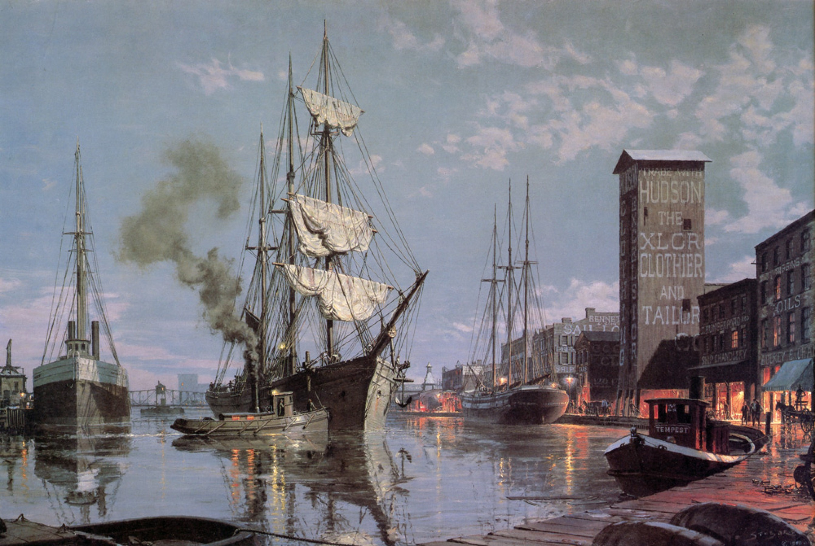 Moonlight Arrival on the Cuyahoga CA 1876 1988