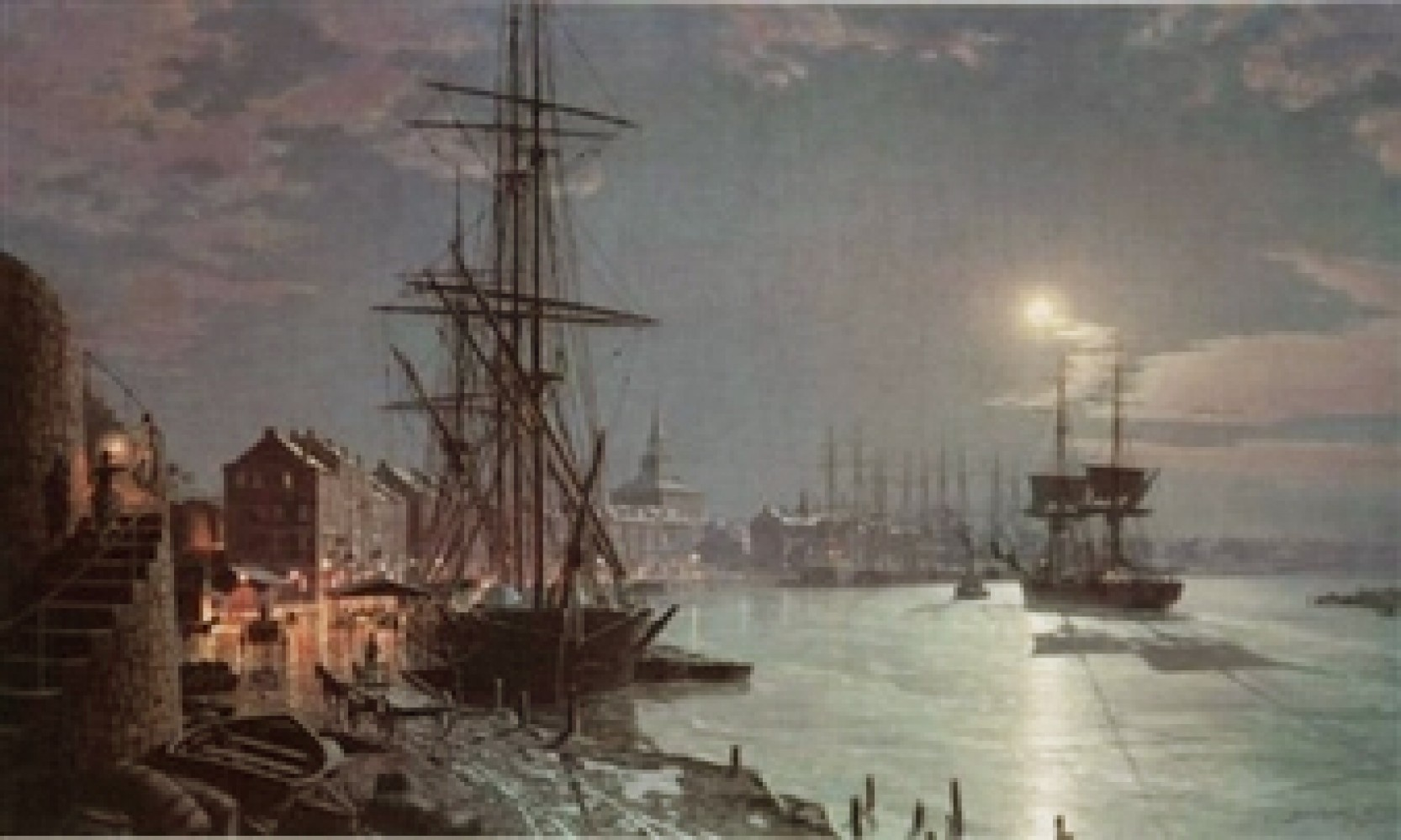 Moonlight Over the Savannah River in 1850