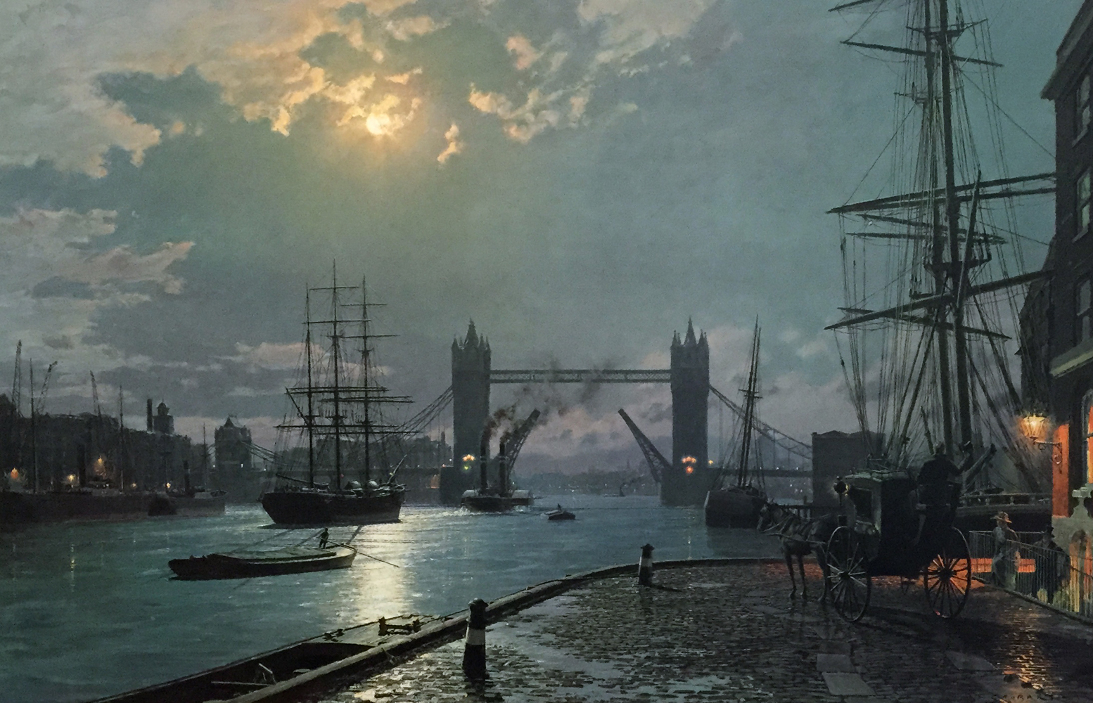 London Moonlight Over the Lower Pool  1897