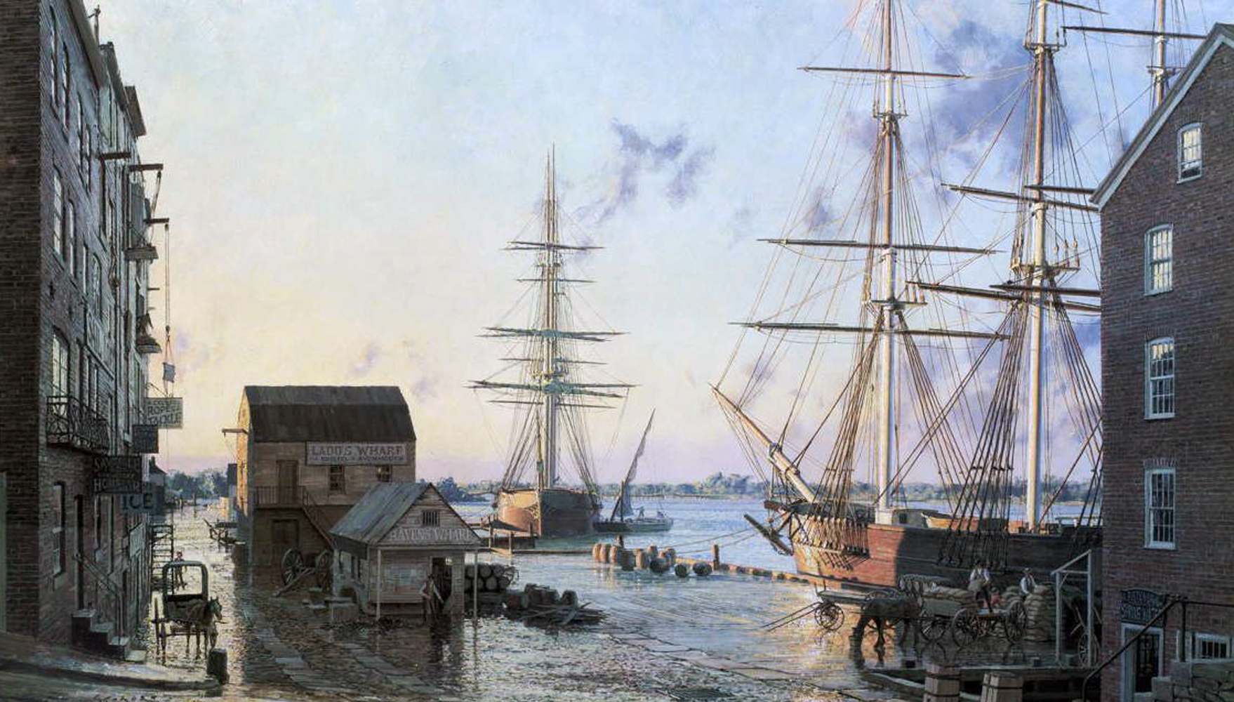 Portsmouth Merchants Rowoverlooking Pascatagua River 1828