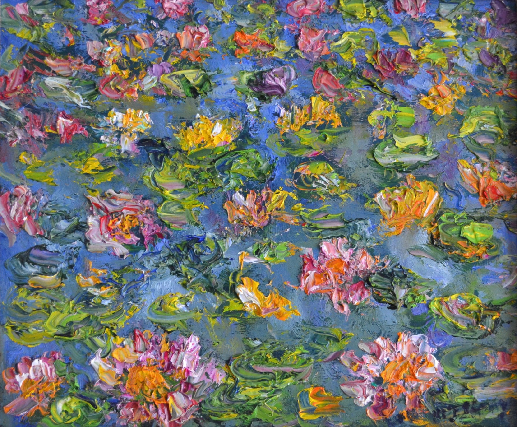Waterlilies, Cow Pond, Windsor Great Park 2011 16x18