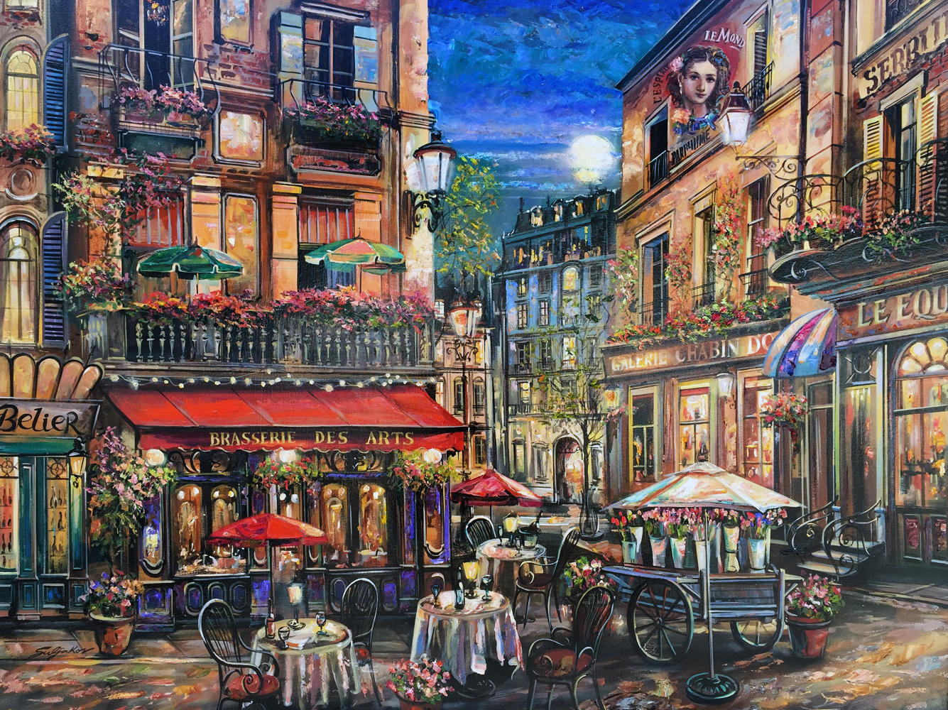 Brasserie des Arts, Paris  2005 36x48
