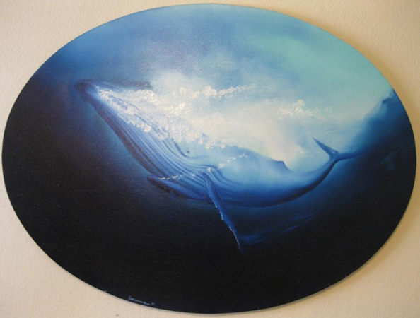 Humpback Whale with Calf 1980 36x48