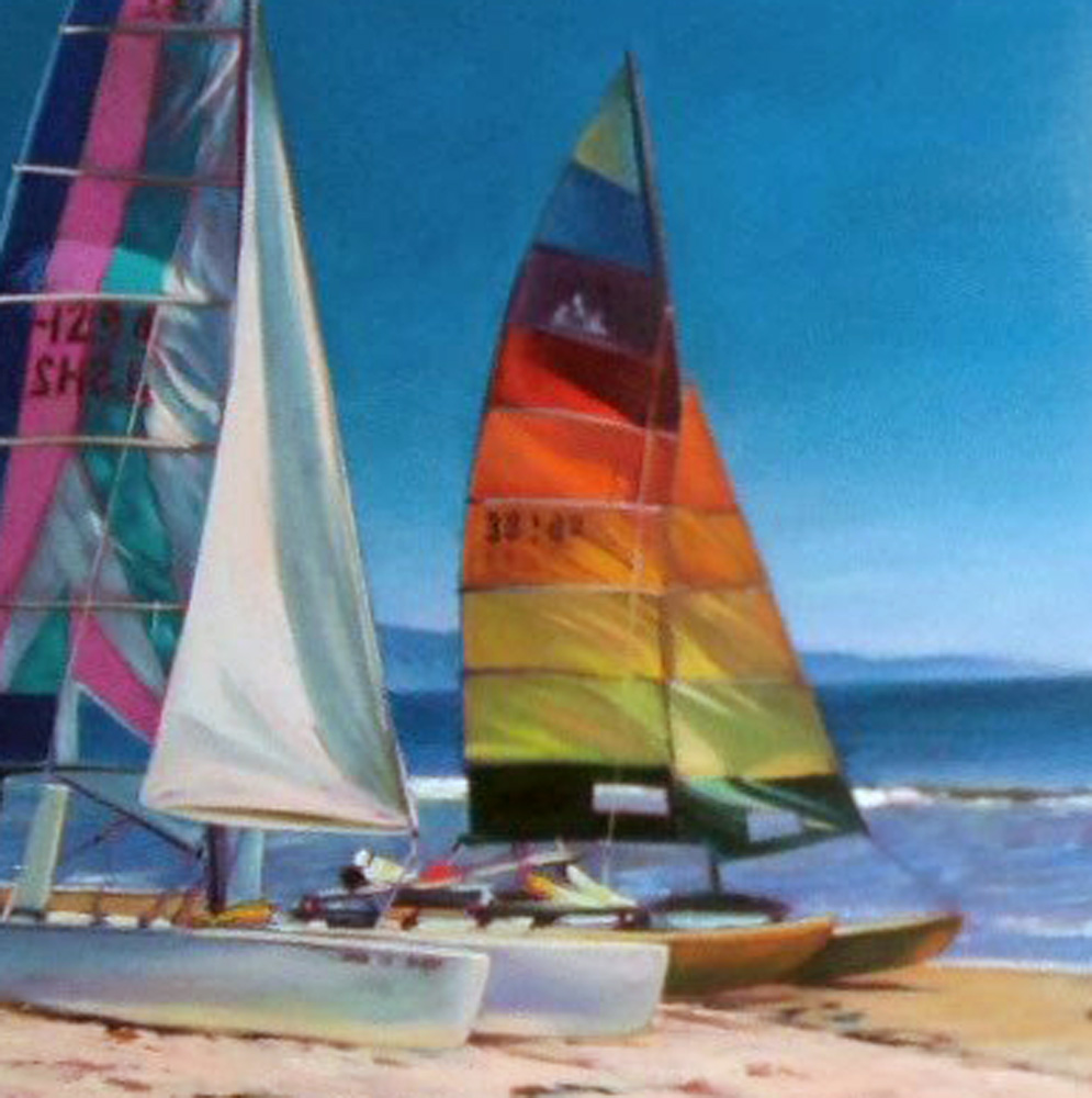 Catamarans in the Sun 1993 50x40