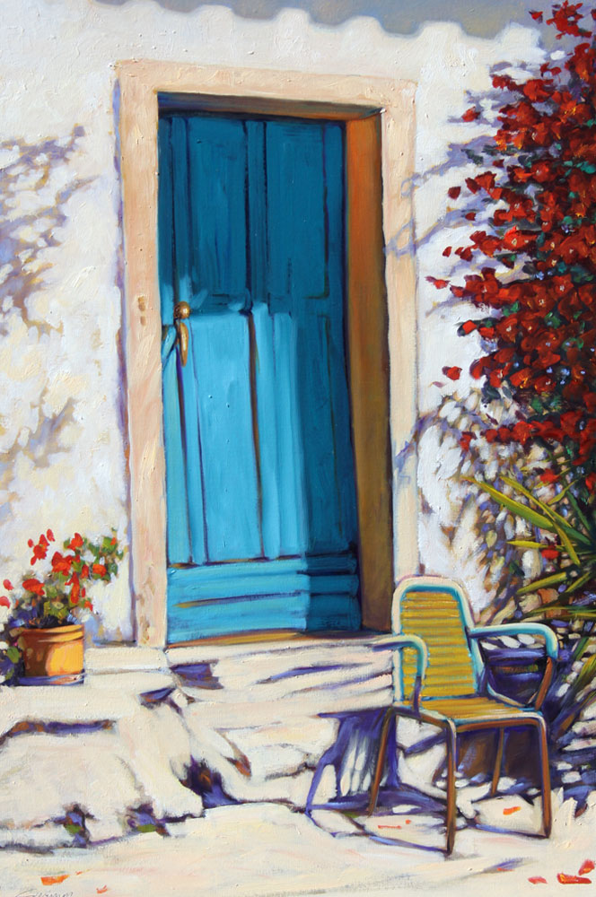 Blue Door, Blue Chair 2011 36x24