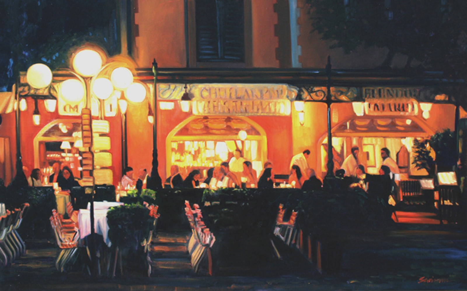 Warm Night in Portofino 2010 30x48