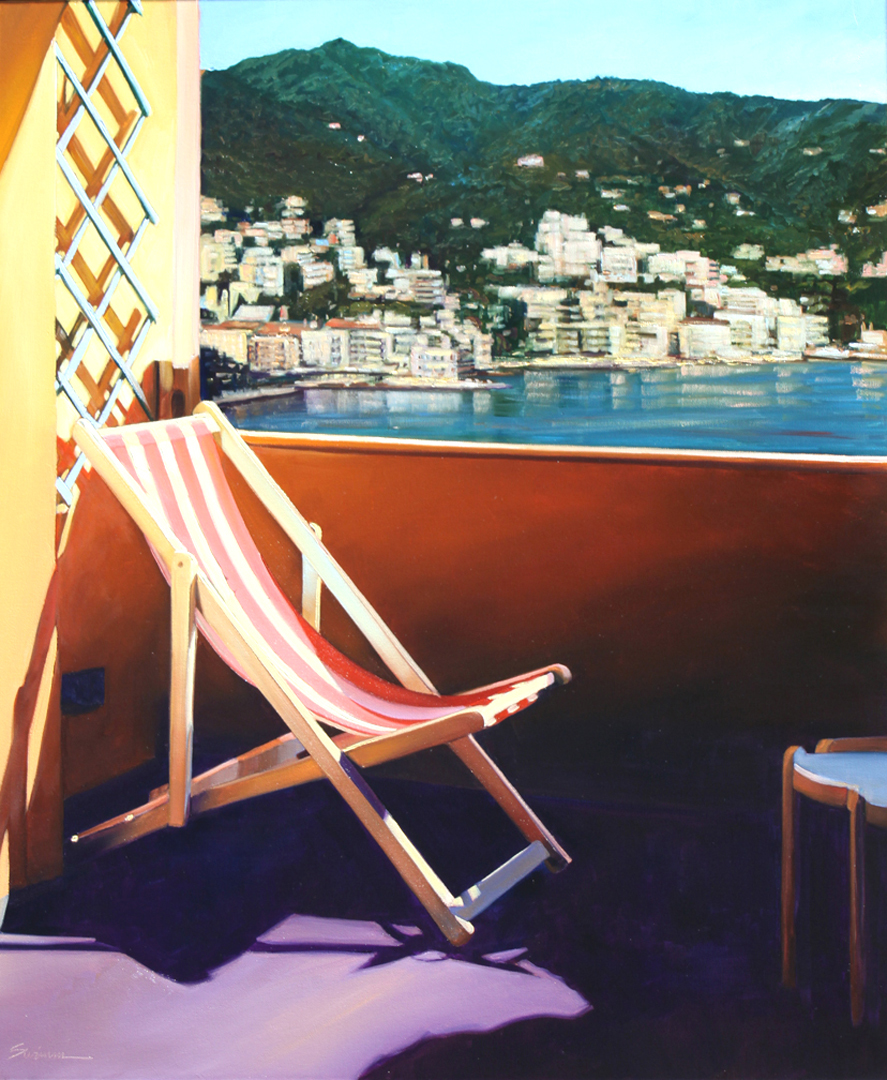 Rapallo Harbor View 2014 30x30