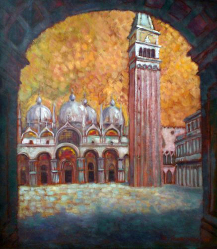 St. Mark's Basilica and Campanella in Venezia 1994 34x30