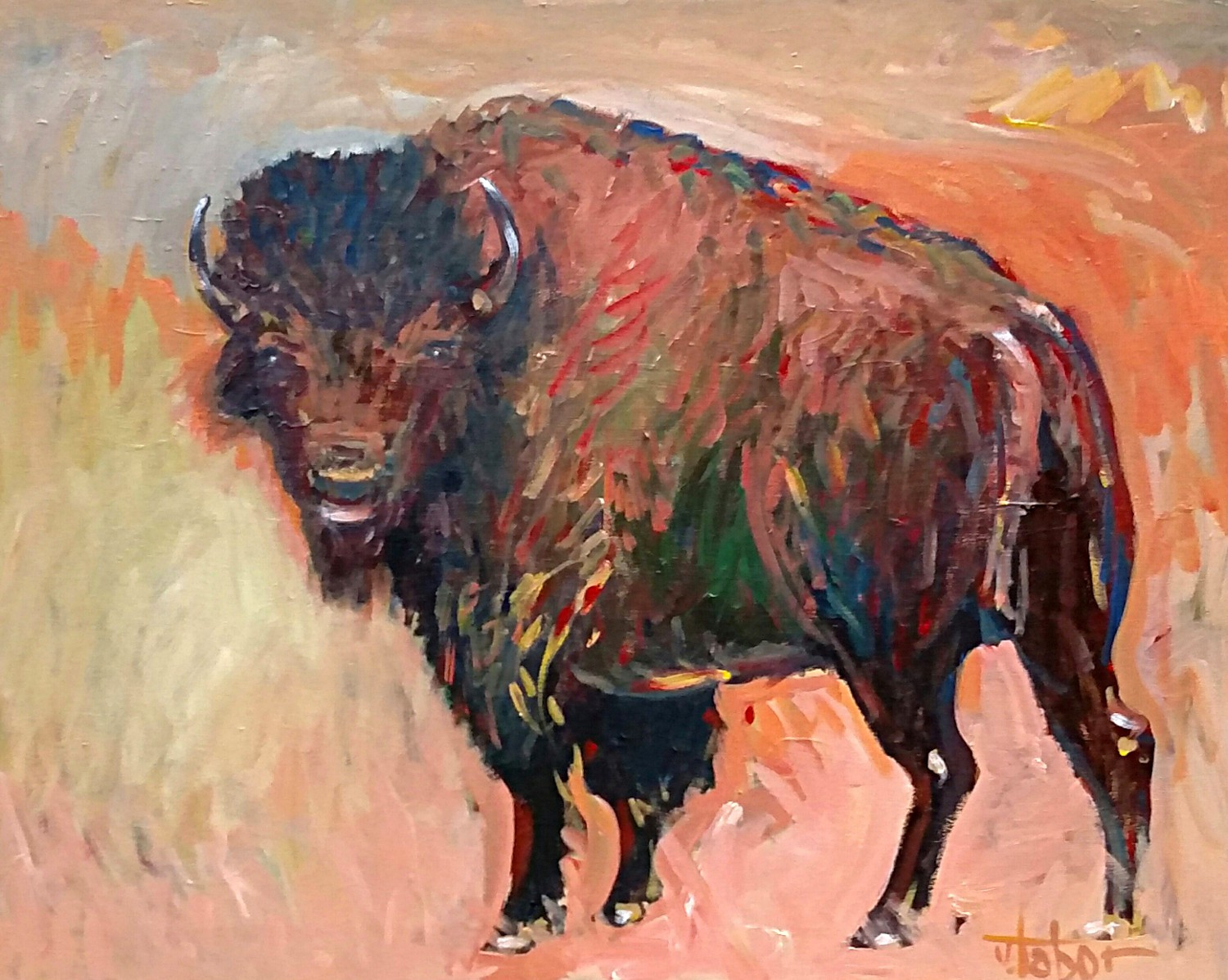 American Bison 2015 31x37