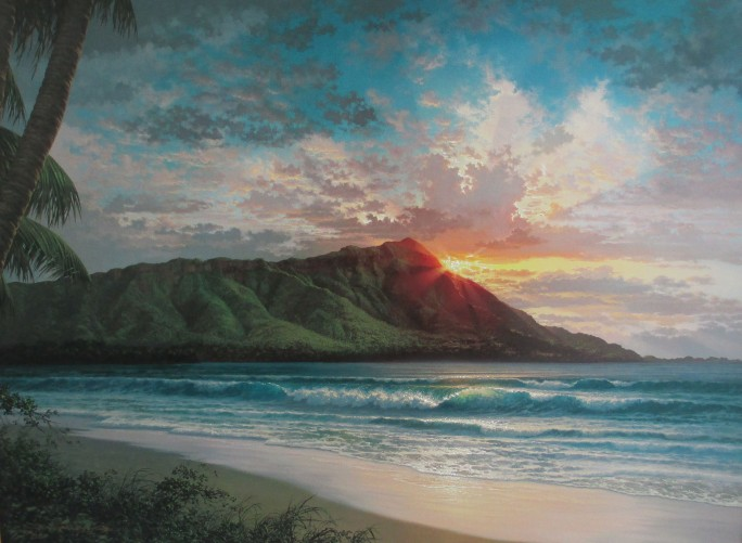 Diamond Head Sunrise, Waikiki,  Hawaii