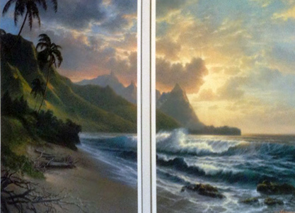 Bali Hai Forever Paradise Diptych Remarque 1990