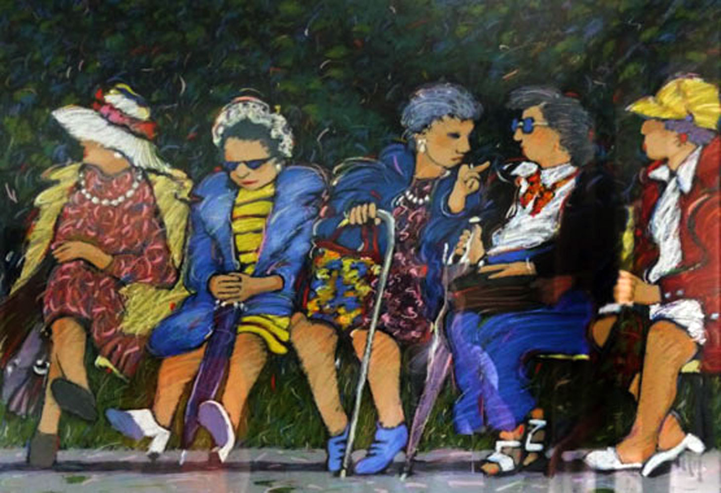 Old Ladies in the Park 1990