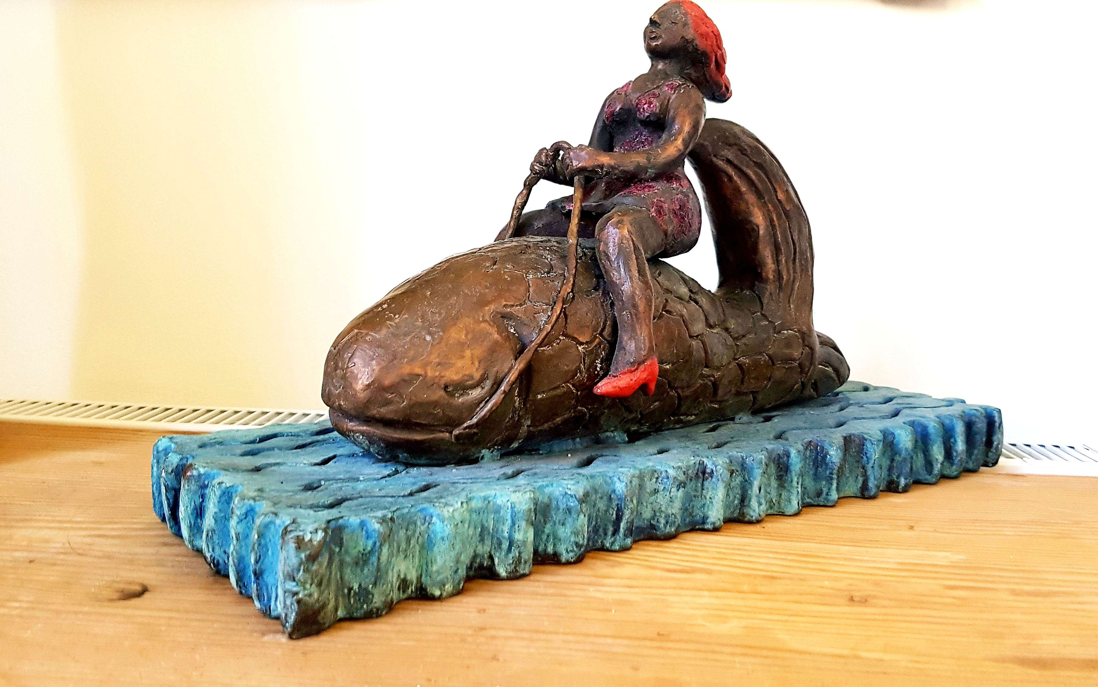 Fish Trip Bronze Sculpture 2009 19 in