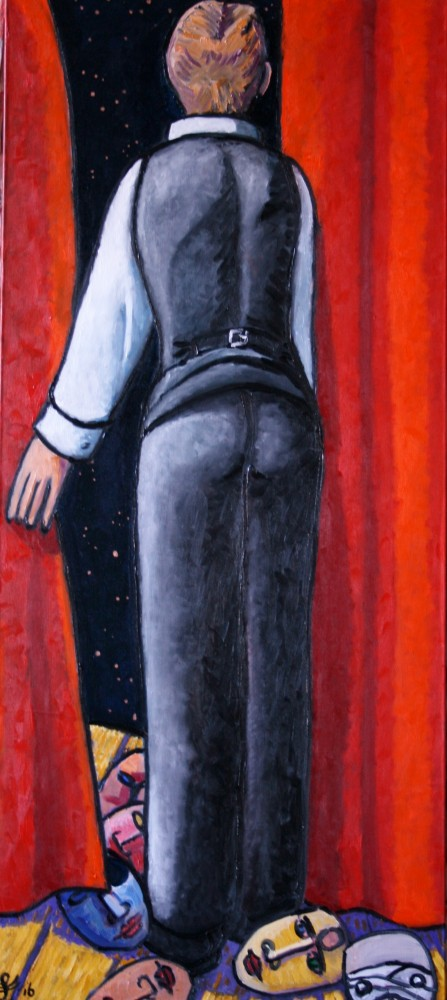 Stars Look Very Different Today,  David Bowie 2016 70x31