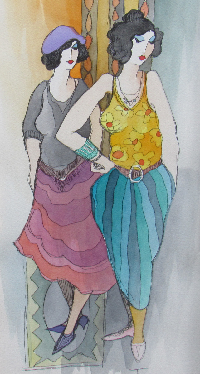 In Fashion Watercolor 2005 32x20