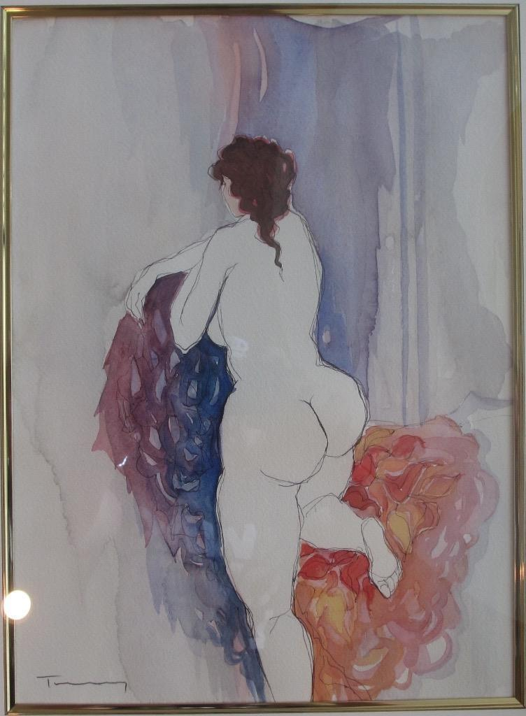 Untitled Nude Watercolor 2005 25x21