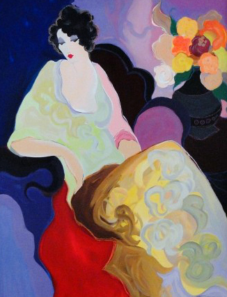 Lady in Yellow 2000 Embellished 44x36